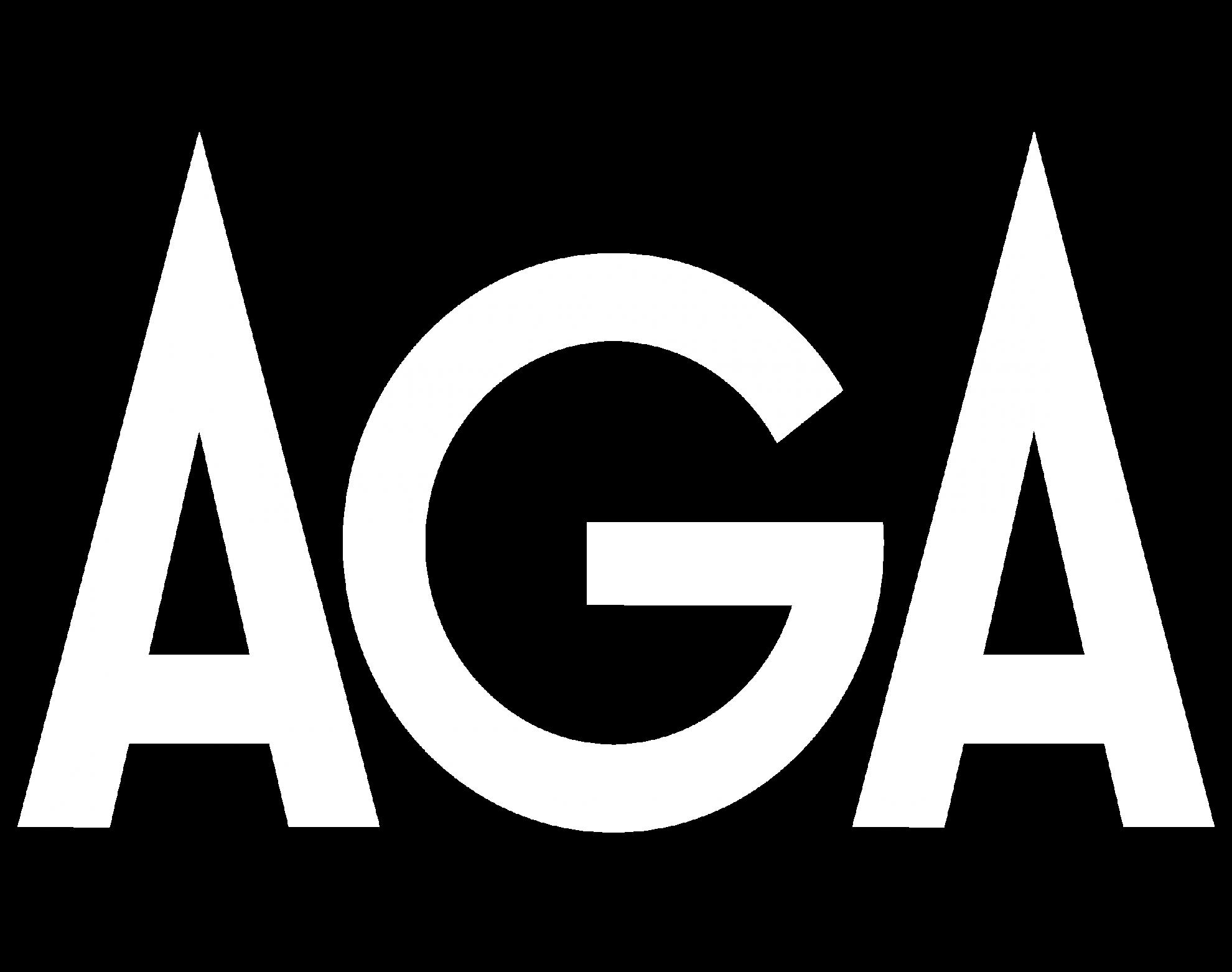 AGA Logotype white
